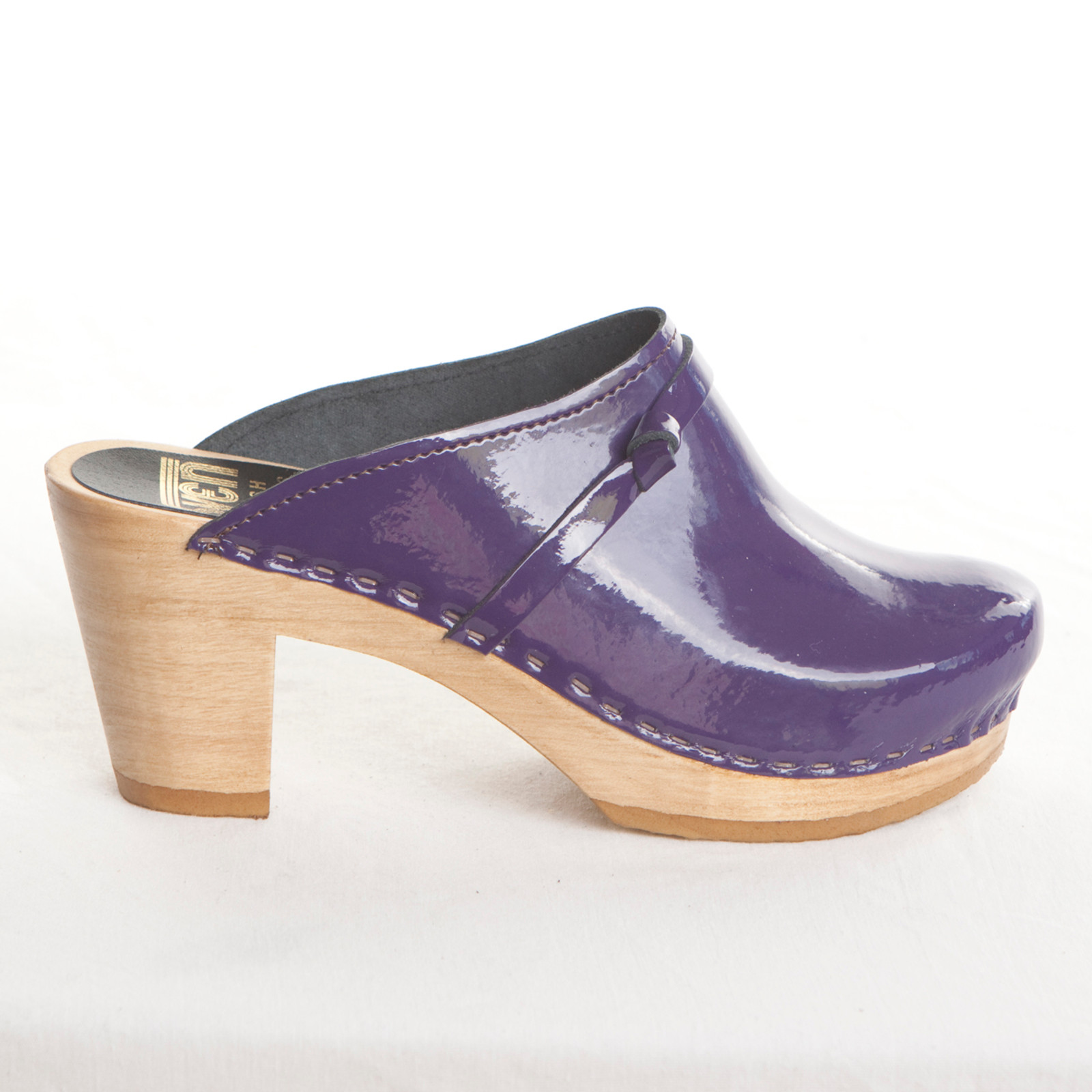 Purple Patent Leather with Brown Base