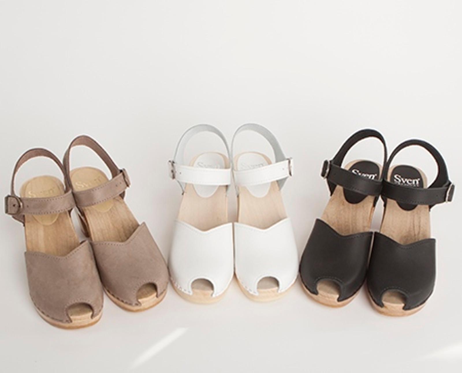 Mary Jane Clogs - Peep Toes - High Heels