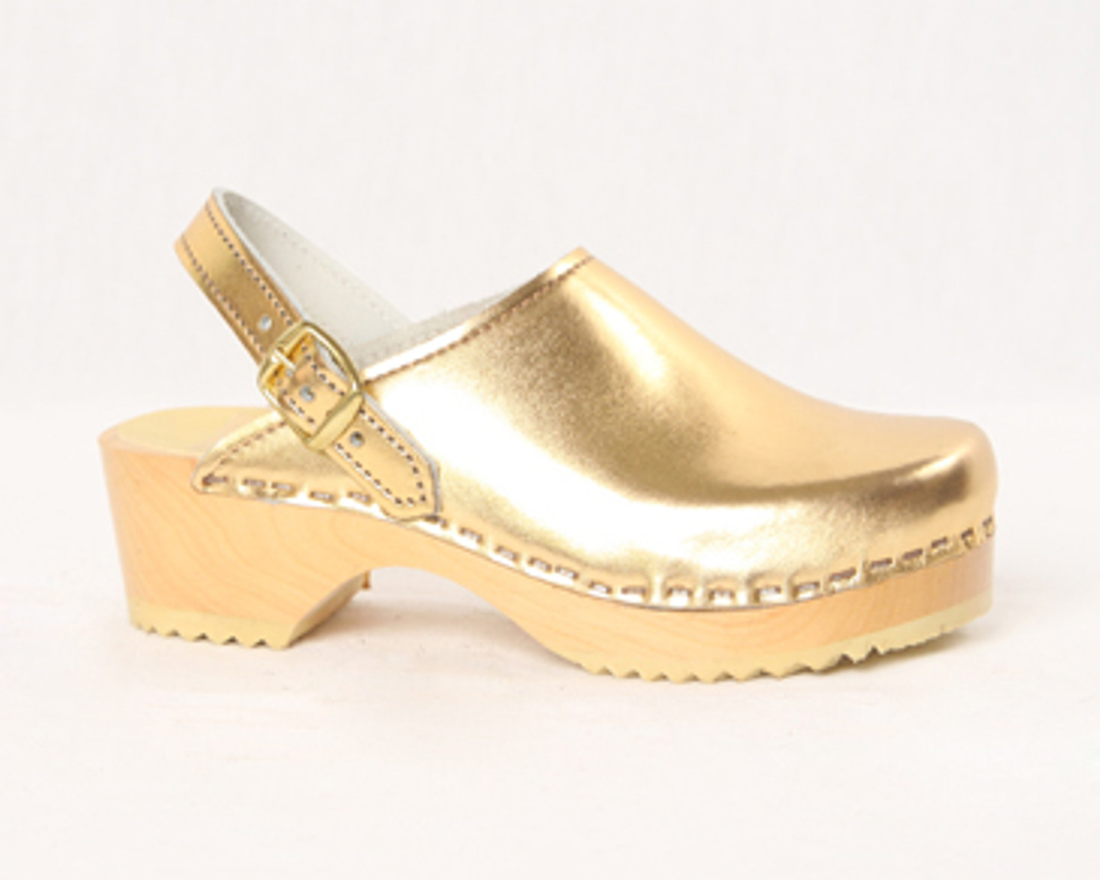 Gold Metallic Leather with Natural Base