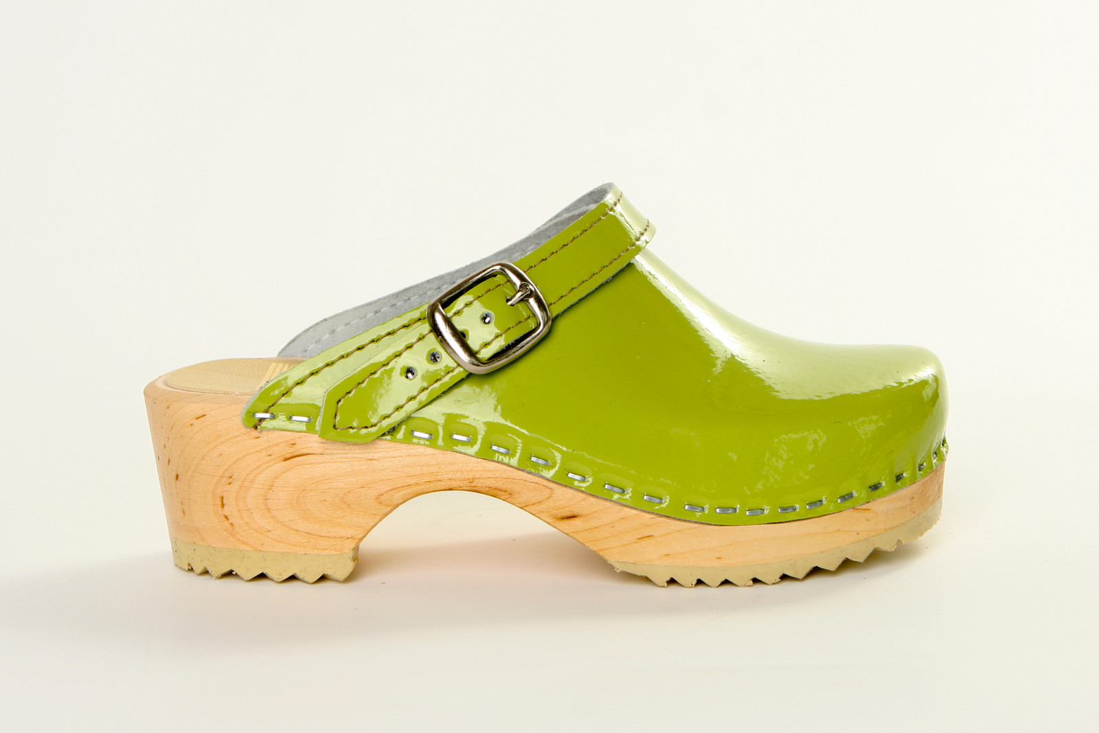 Lime Patent Leather with Natural Base