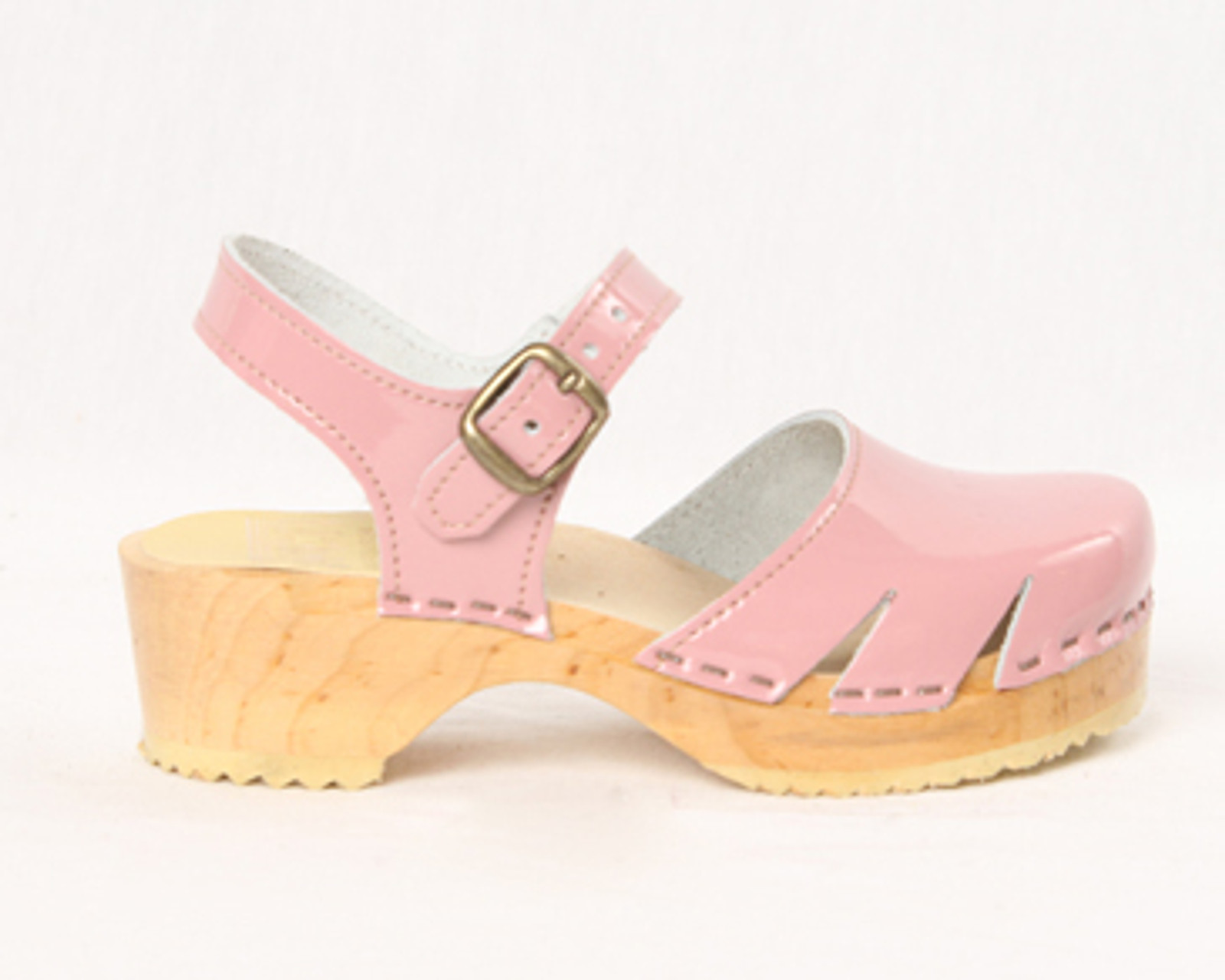 Bubble Gum Patent Leather with Natural Base