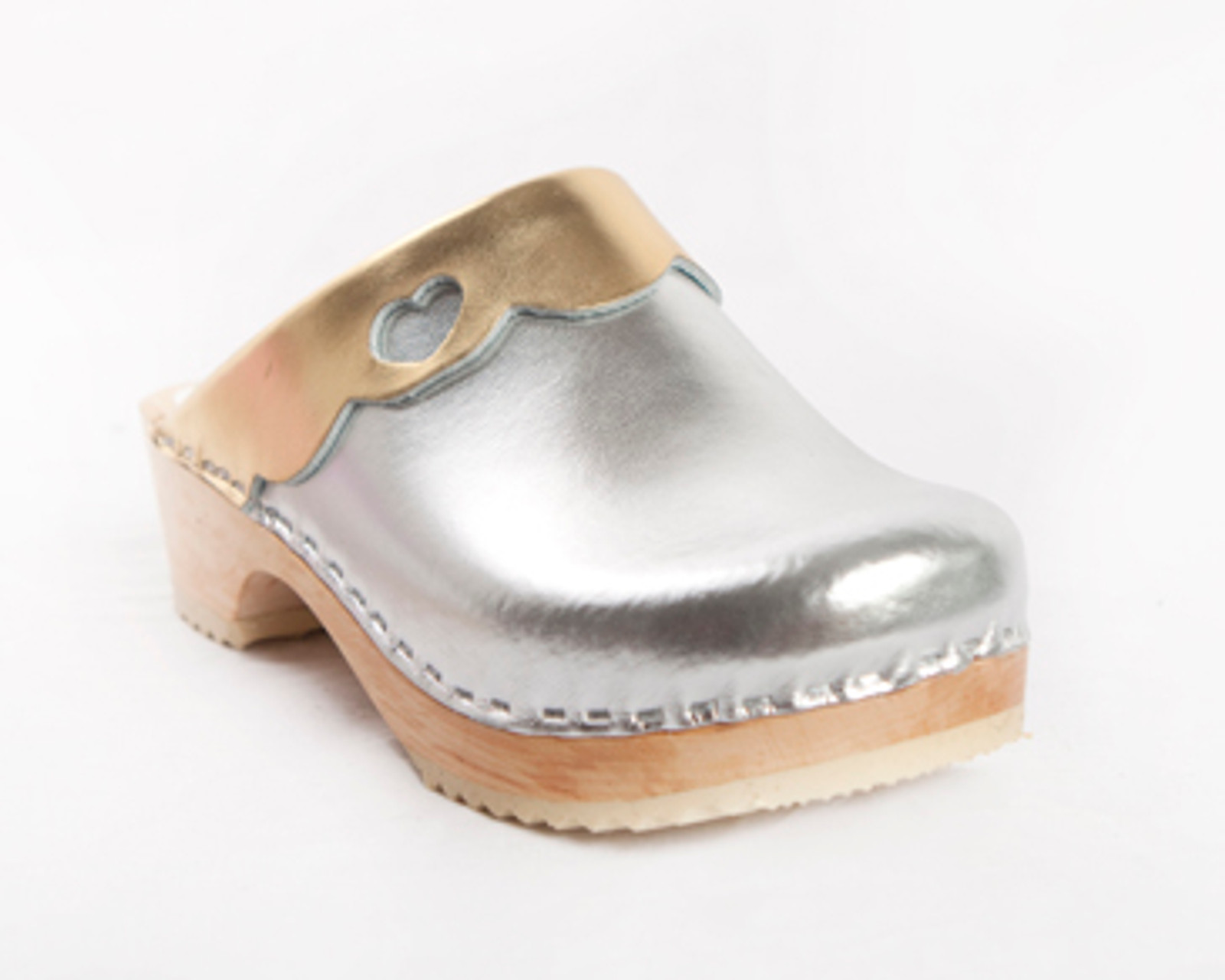 Silver and Gold Metallic Leather with Natural Base