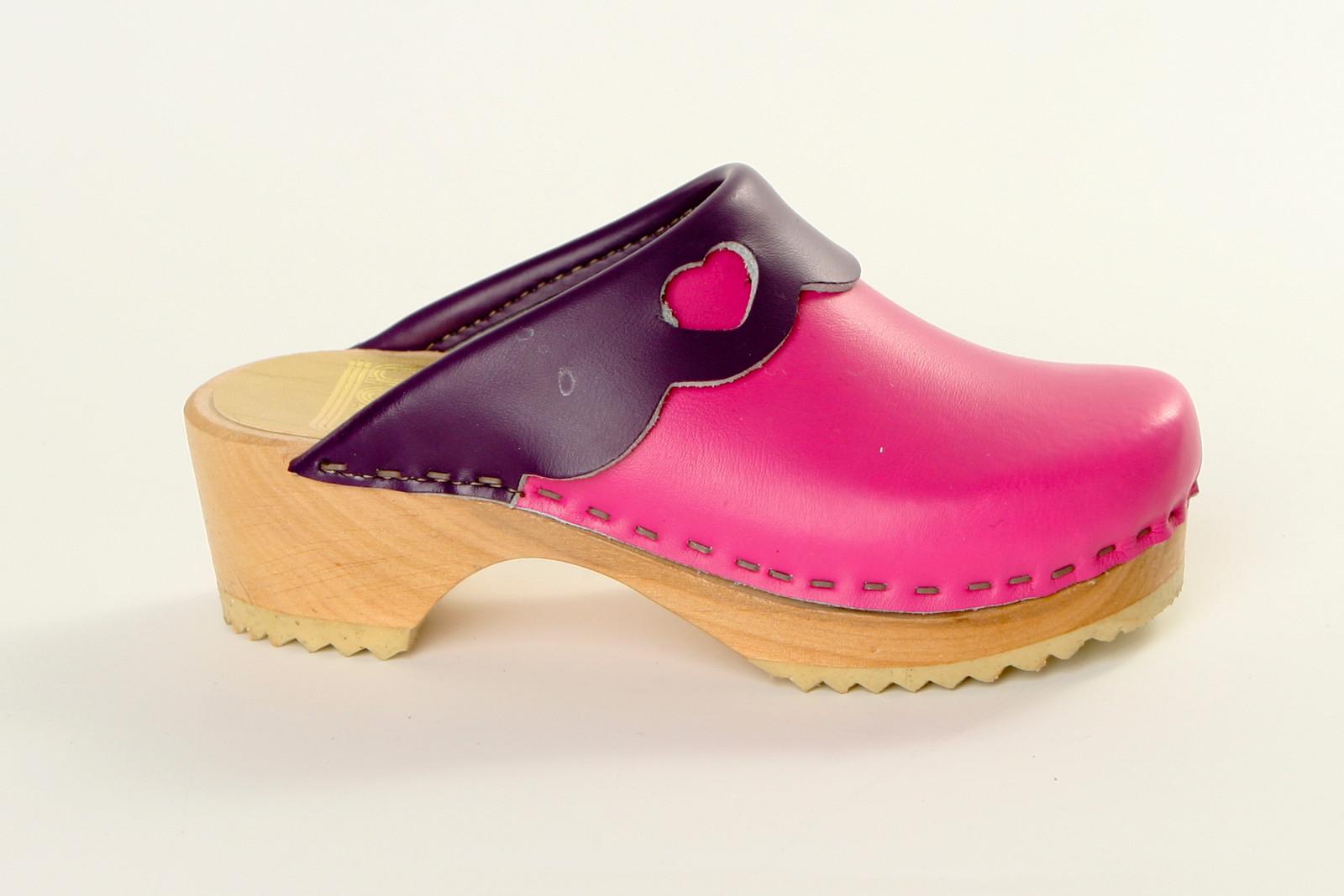 Fuchsia and Purple Smooth Leather