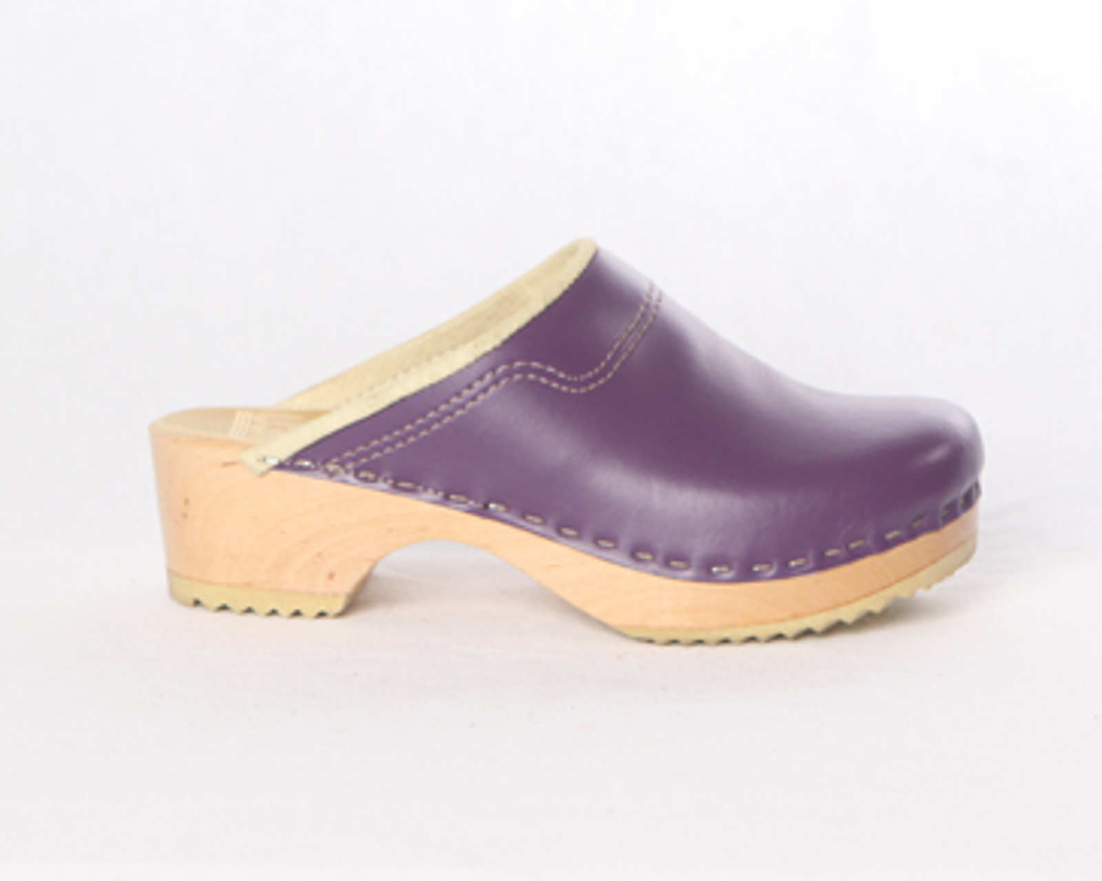 Purple Smooth Leather with Natural Base