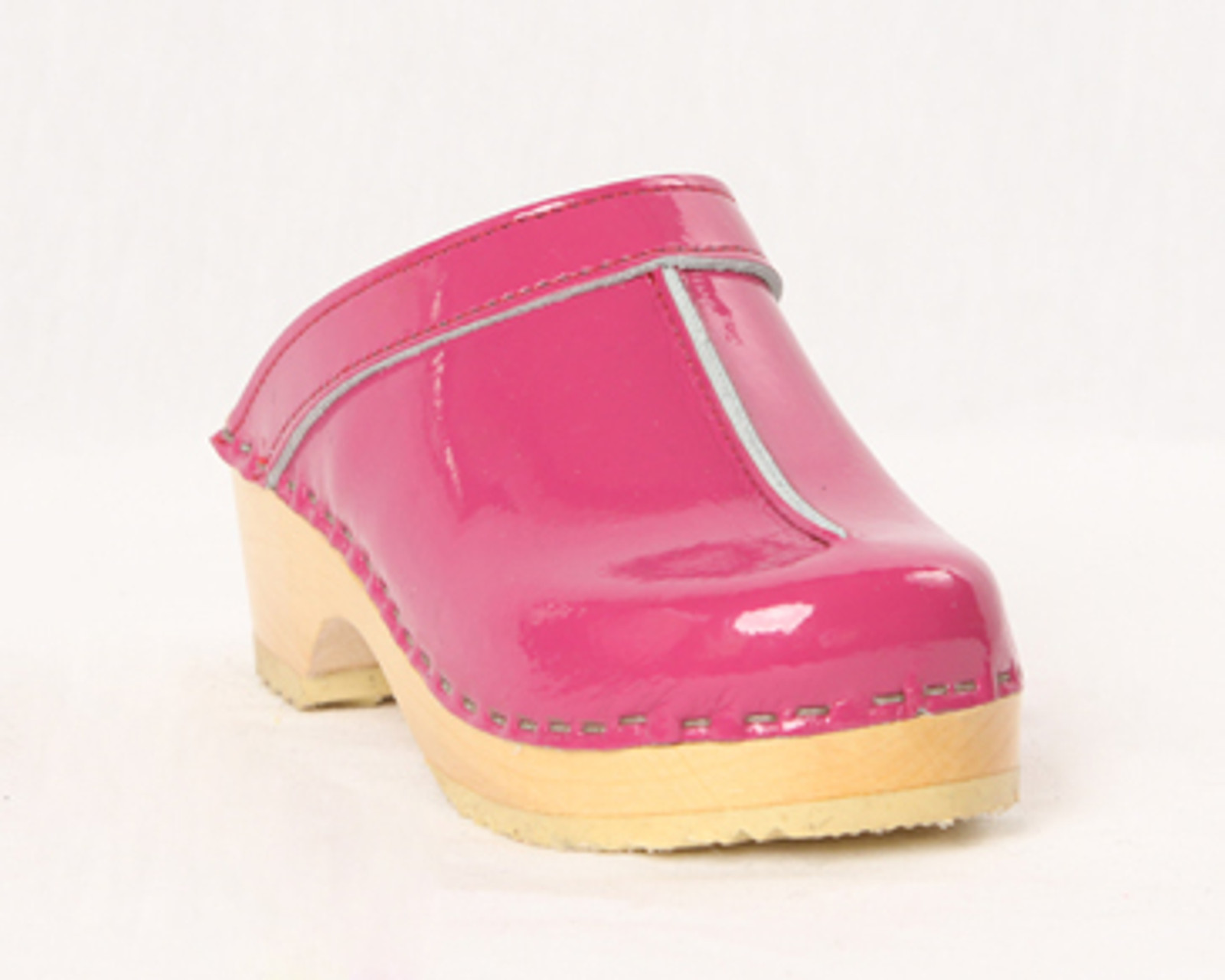 Magenta Patent Leather with Natural Base
