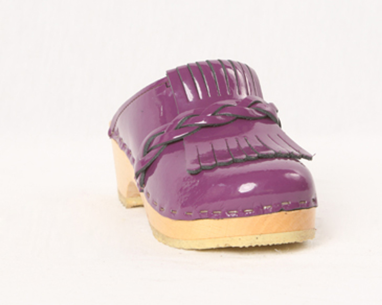 Purple Patent Leather with Natural Base