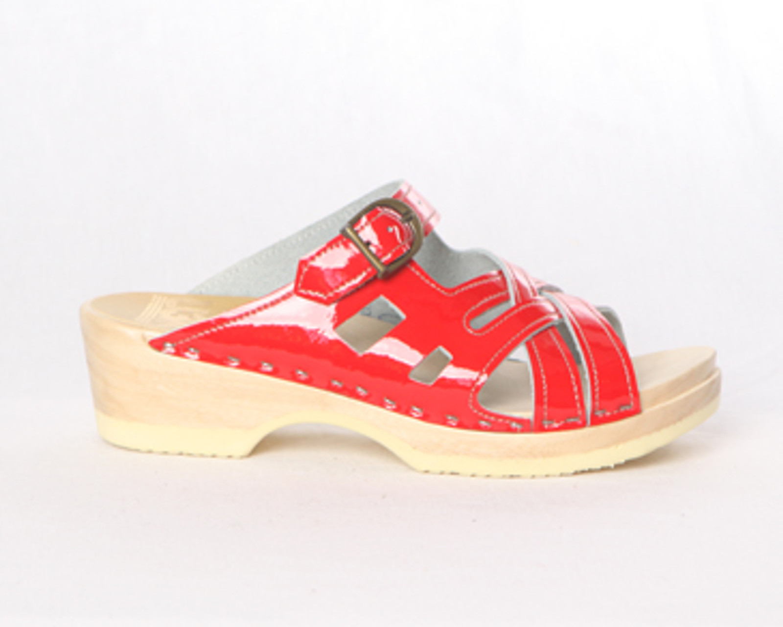 Red Patent Leather with Natural Base