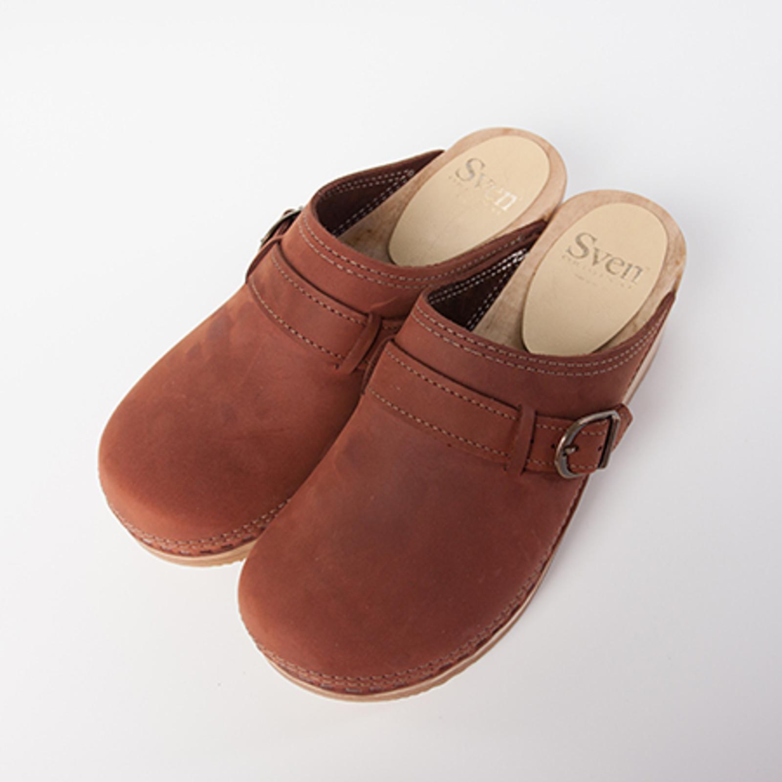 Belt Strap Clogs - Low Heels