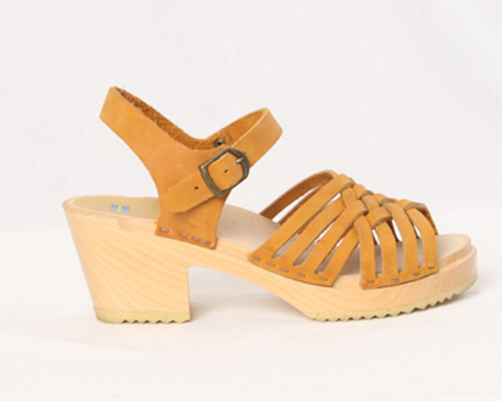 Small Weave Sandal Clogs - Swedish Mid Heels