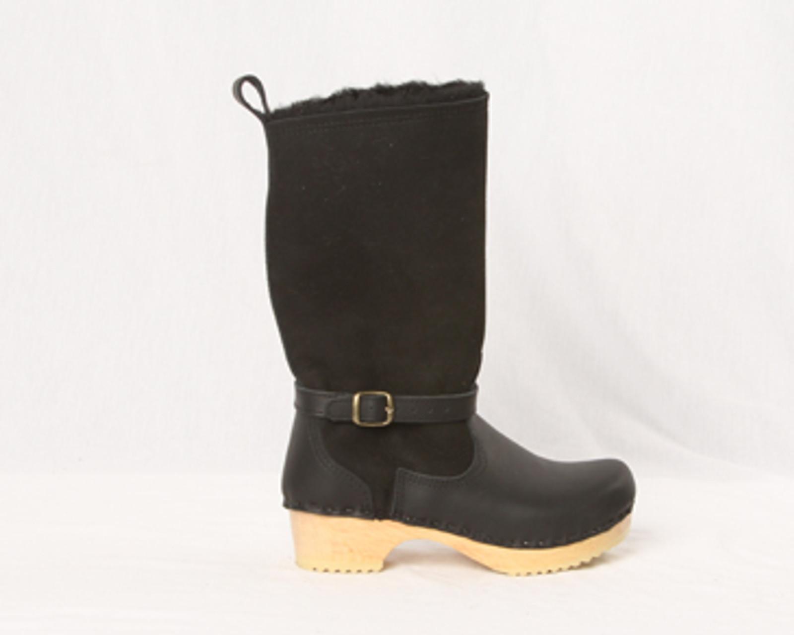 """11"""" Shearling Clog Boots - Swedish"""