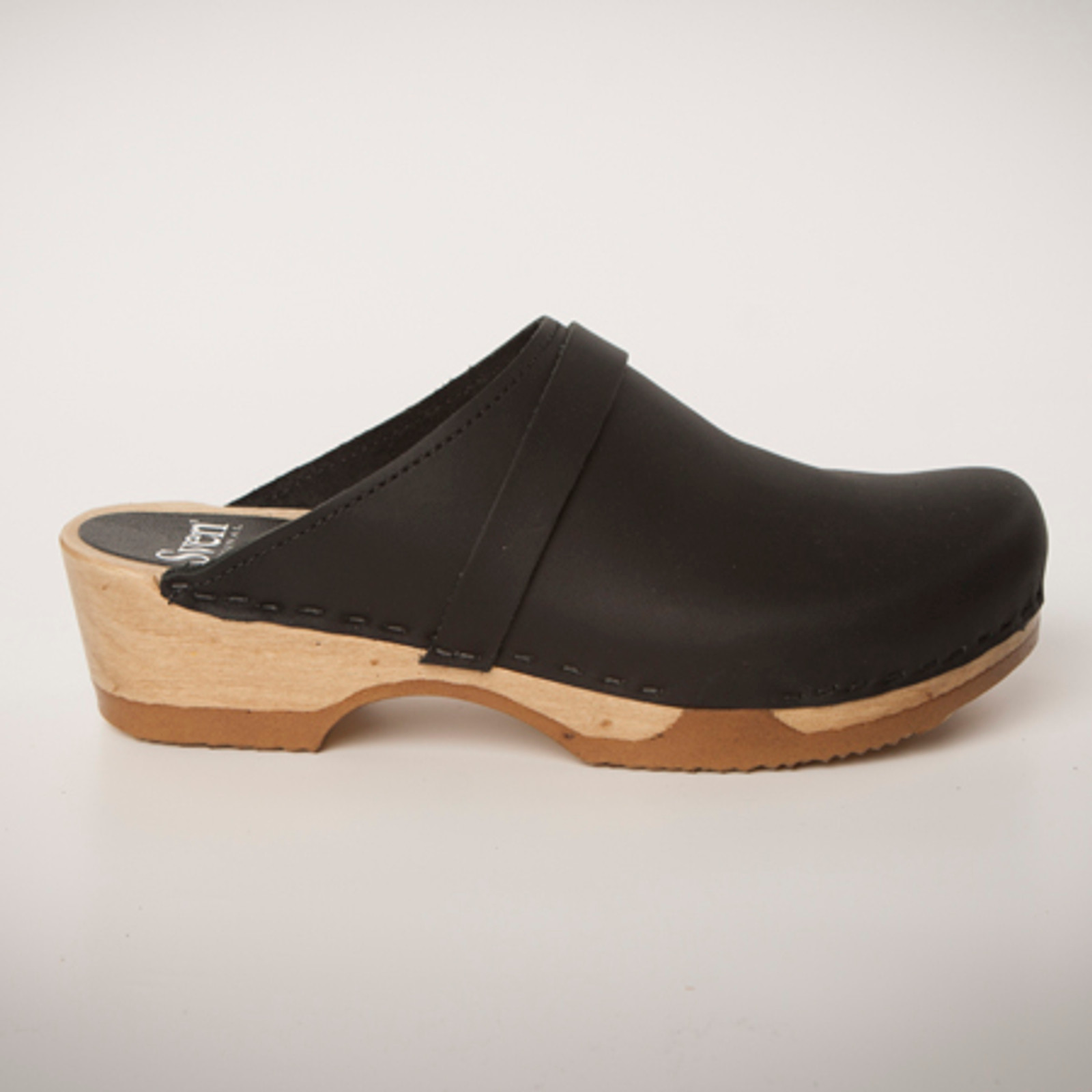 Plain Clogs with Straps - Low Heel - Bendable