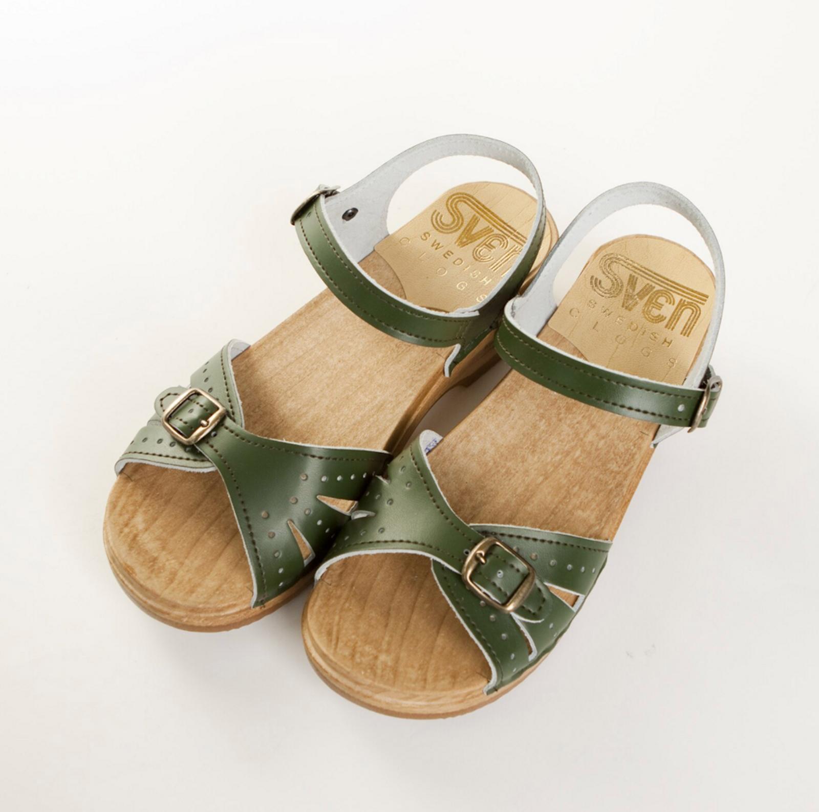 2 Buckle Sandal Clogs - Low Heel Bendable