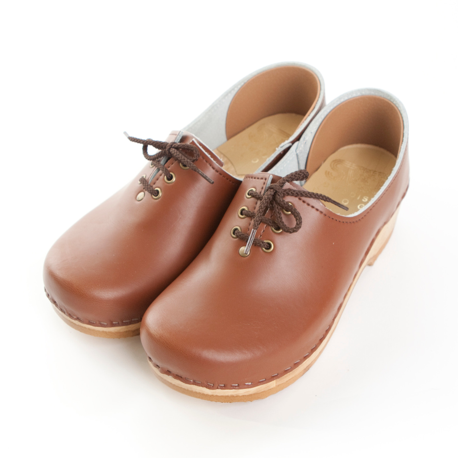 Closed Back Tie Clogs - Low Heel Bendable