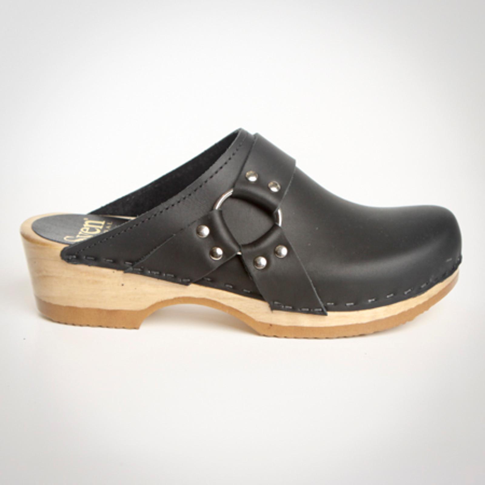 Biker Strap Clogs - Low Heels