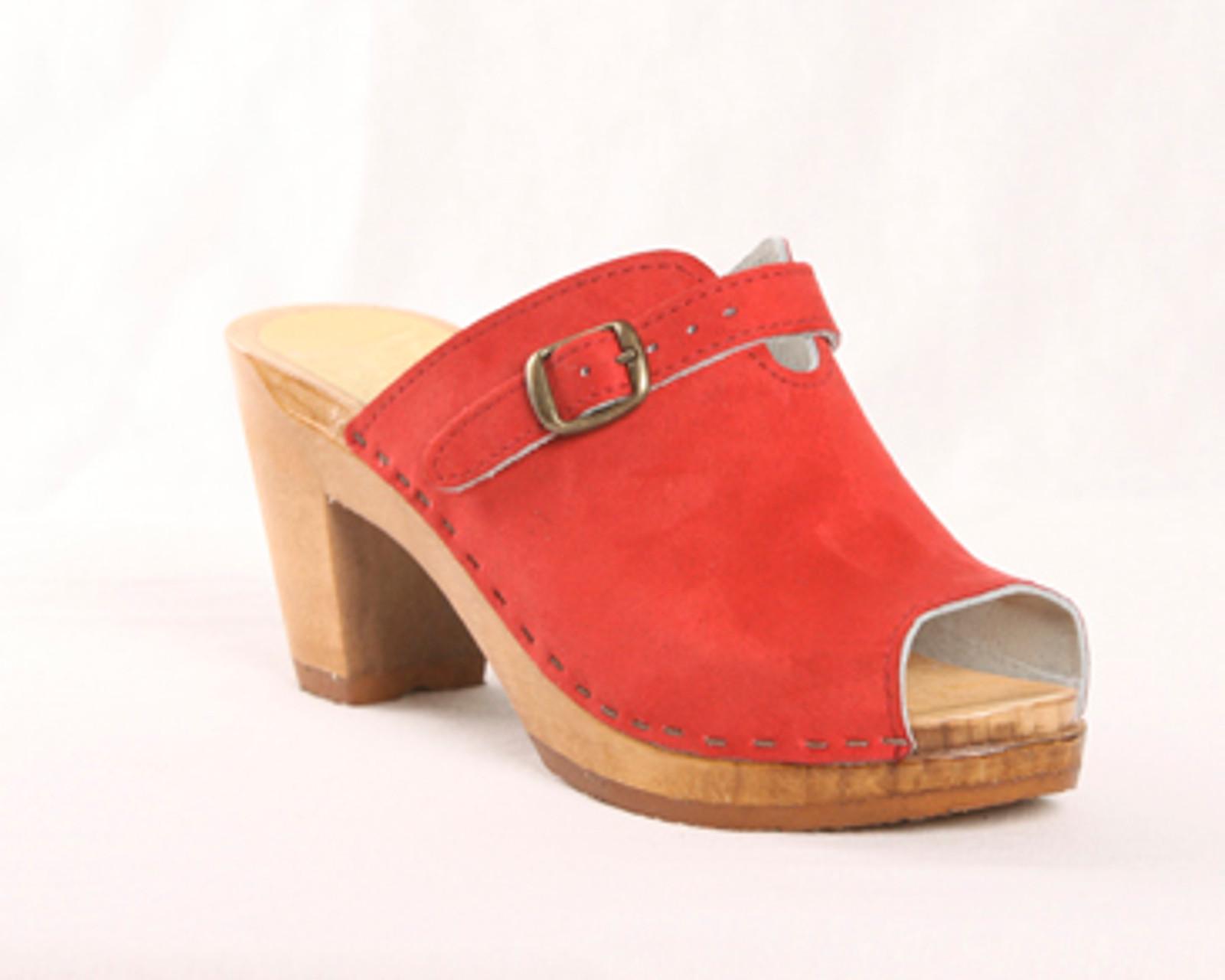 Scallop Open Toe Clogs - High Heels