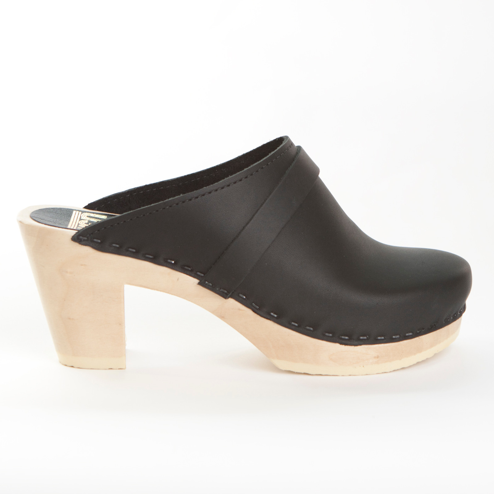 Plain Clogs with Strap - High Heels