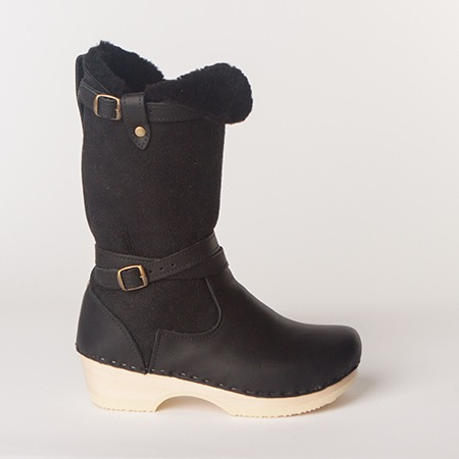 "Lisa Boots - 11"" Shearling - Low Heels"