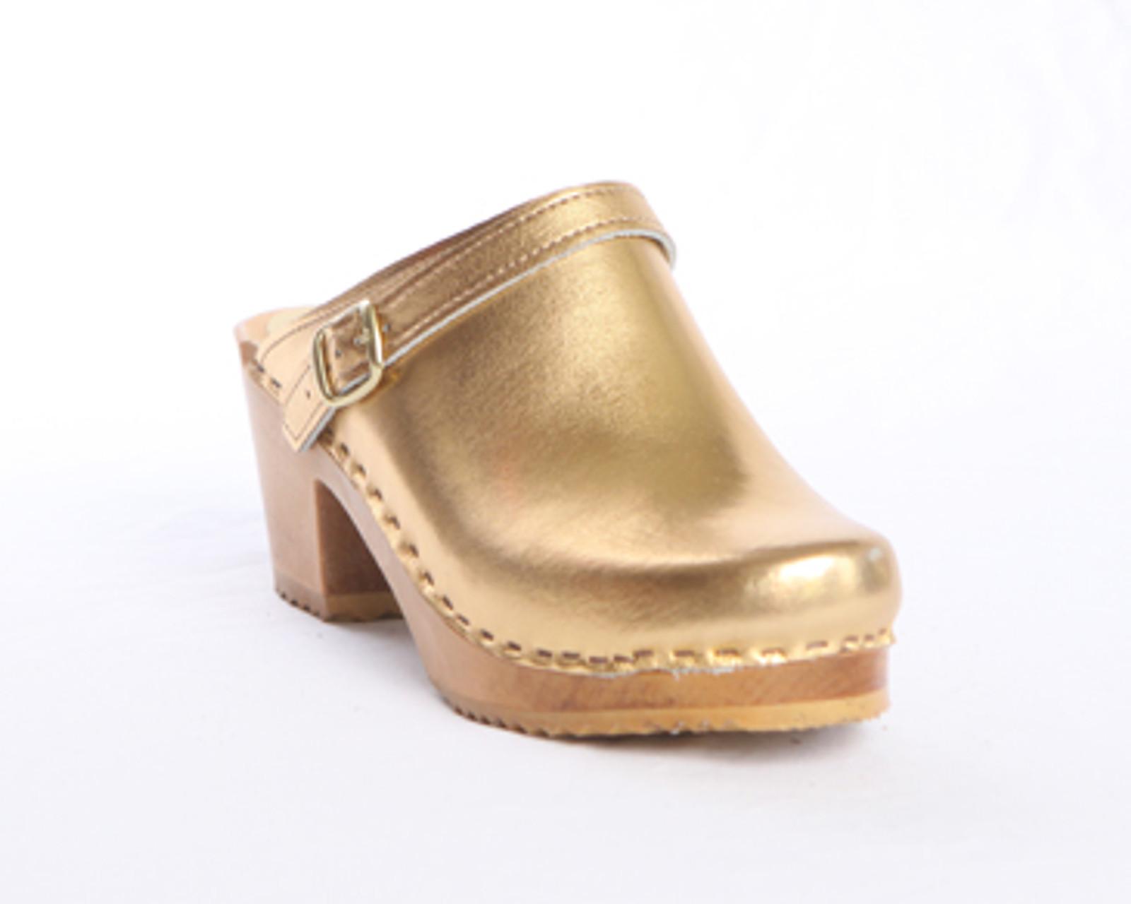 Sling Strap Clogs - Swedish Mid Heels