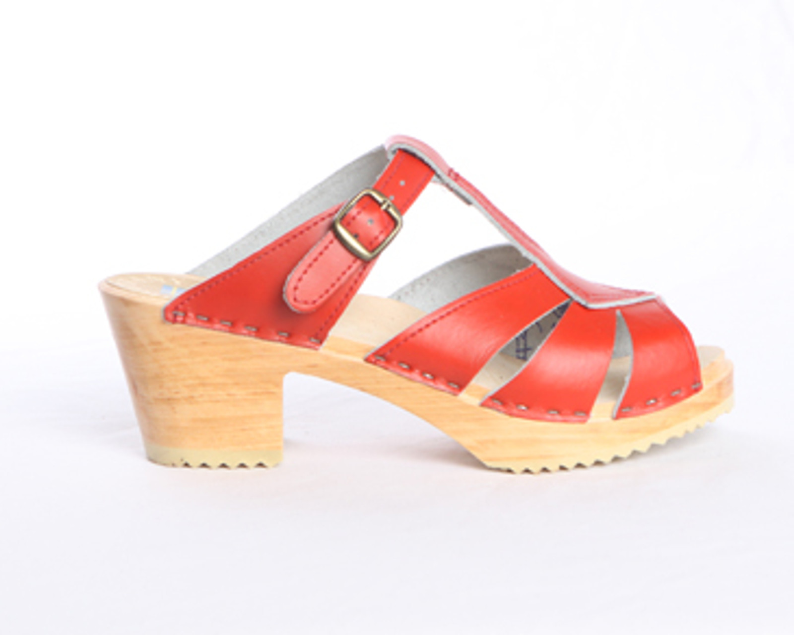 Diamond Strap Clogs - Swedish Mid Heels