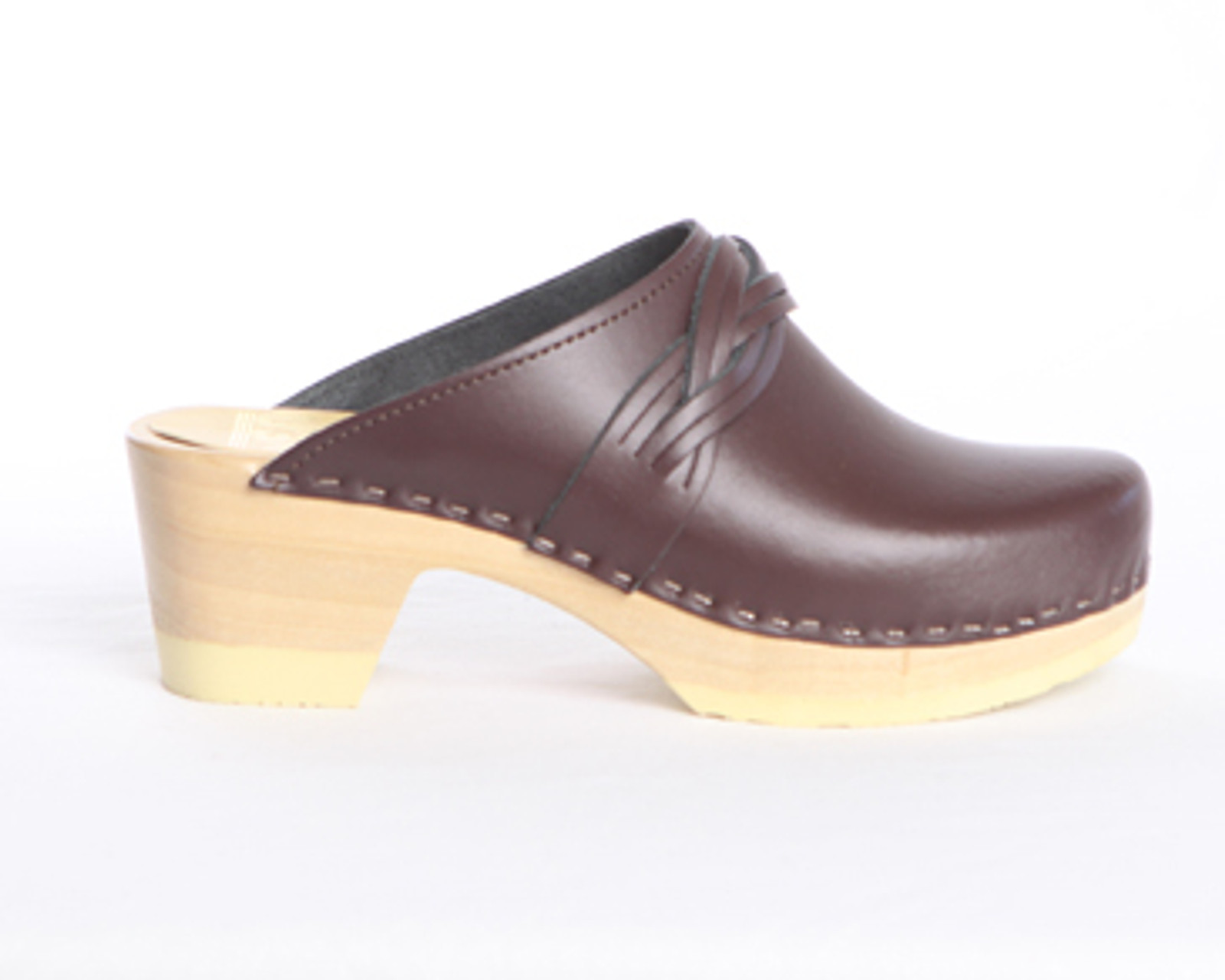 Double Braid Clogs - Mid Heels