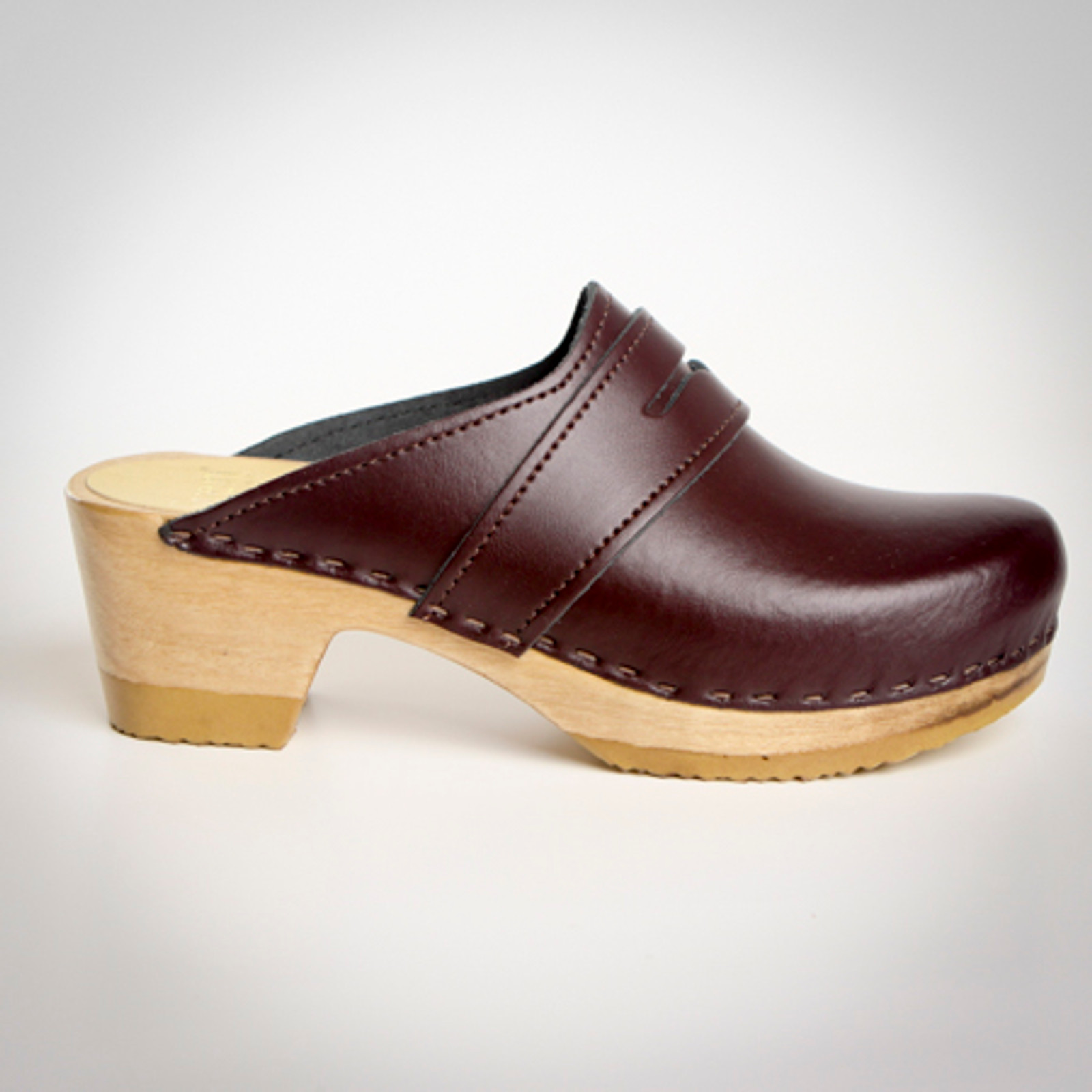 Penny Loafer Clogs - Mid Heels