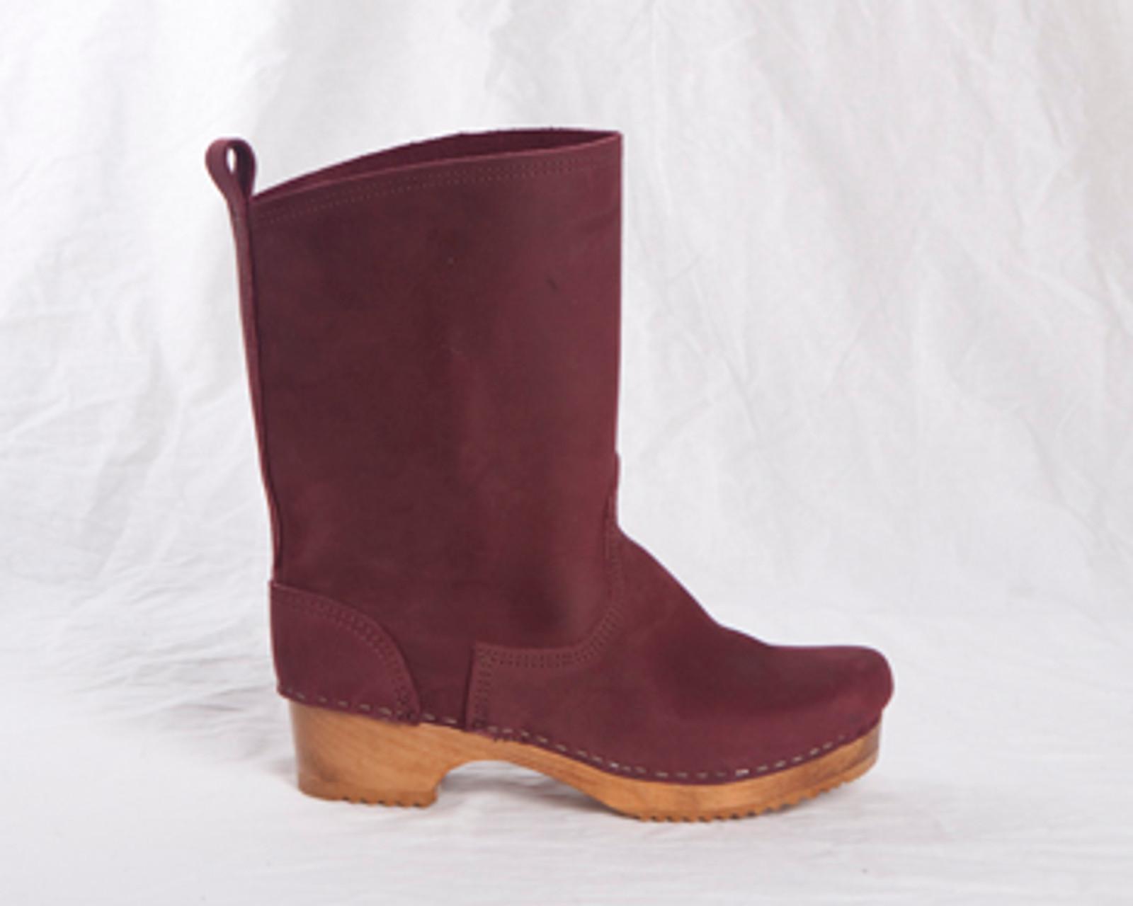 "7"" Leather Clog Booties - Swedish"