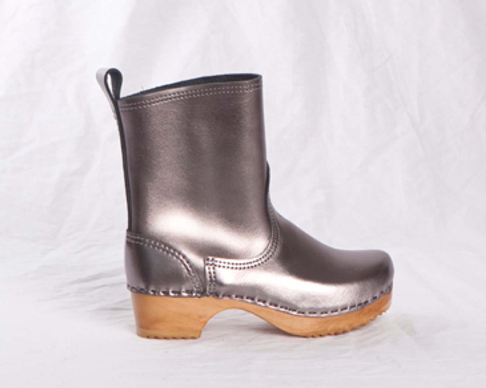 Childrens Leather Boots With Strap