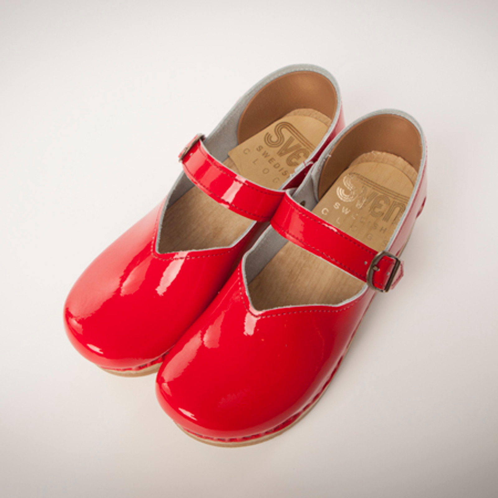 Red Patent with Brown Base
