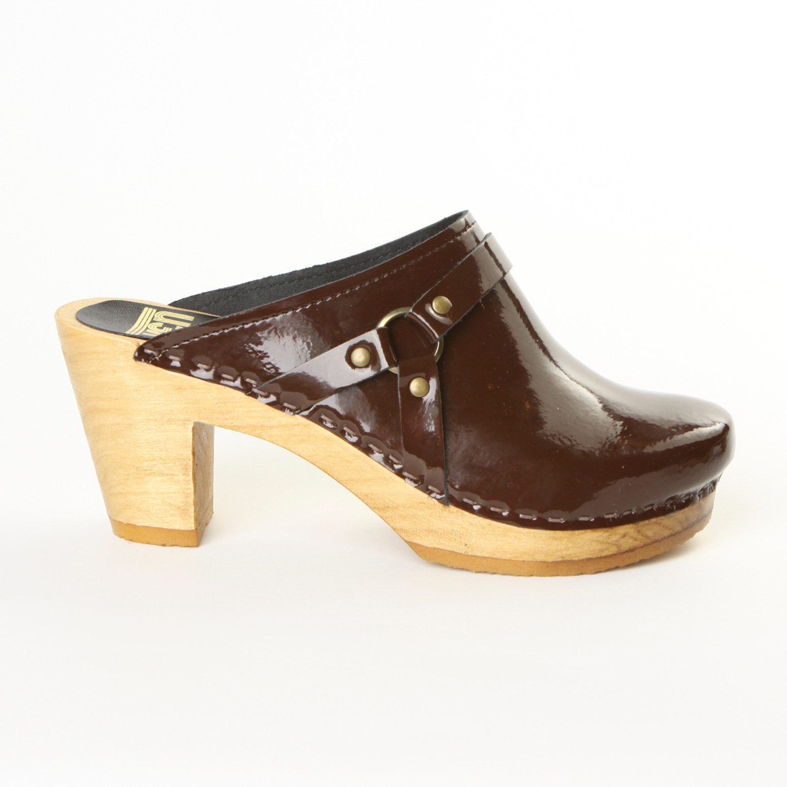 Chocolate Patent Leather with Brown Base