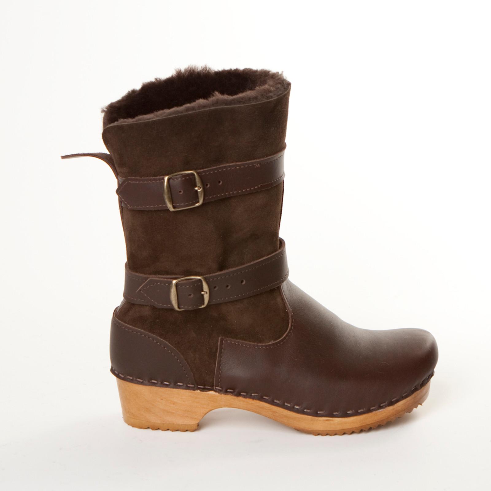 "8"" Clog Boots - Double Straps"