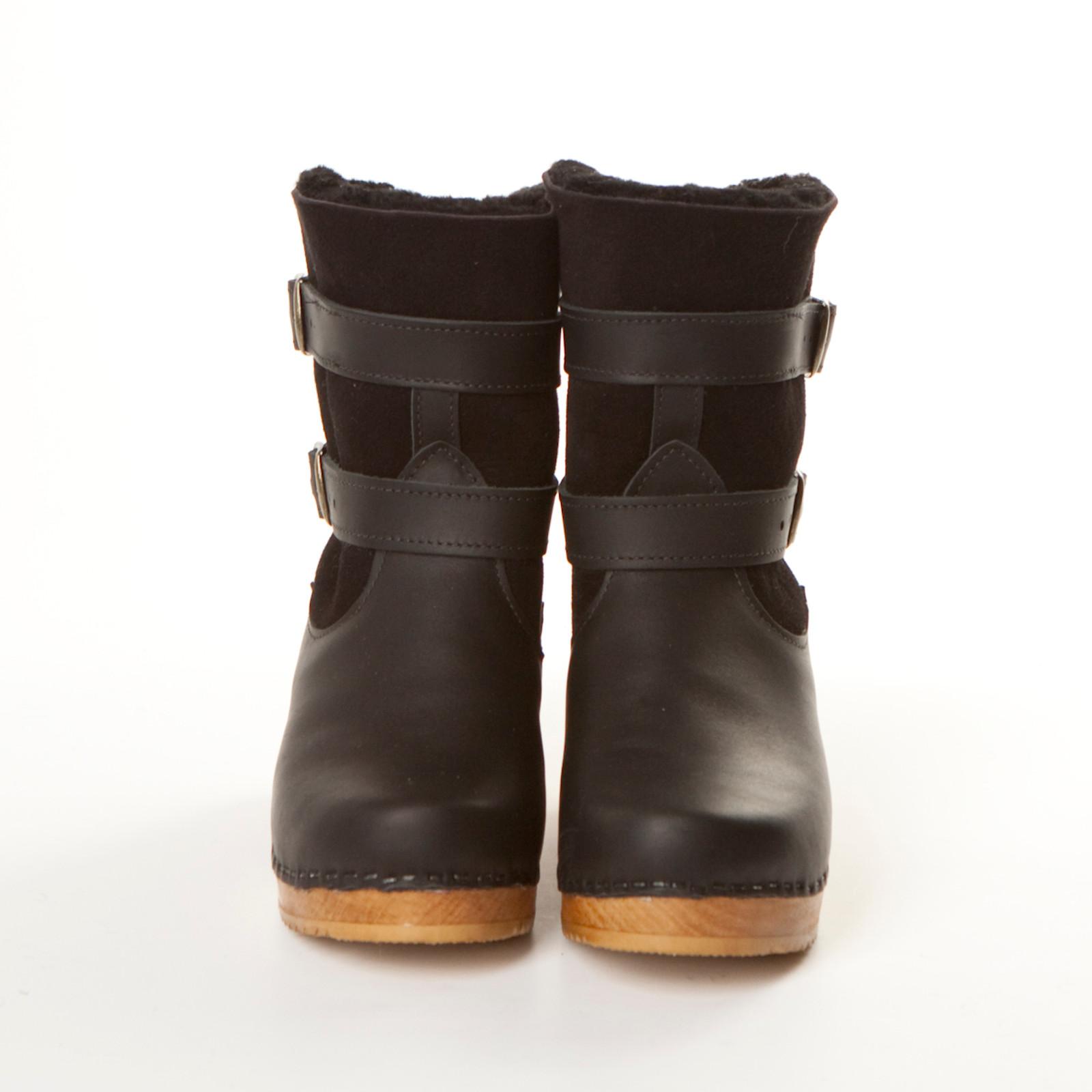 "8"" Clog Boot - Double Straps - Swedish Mid Heel"