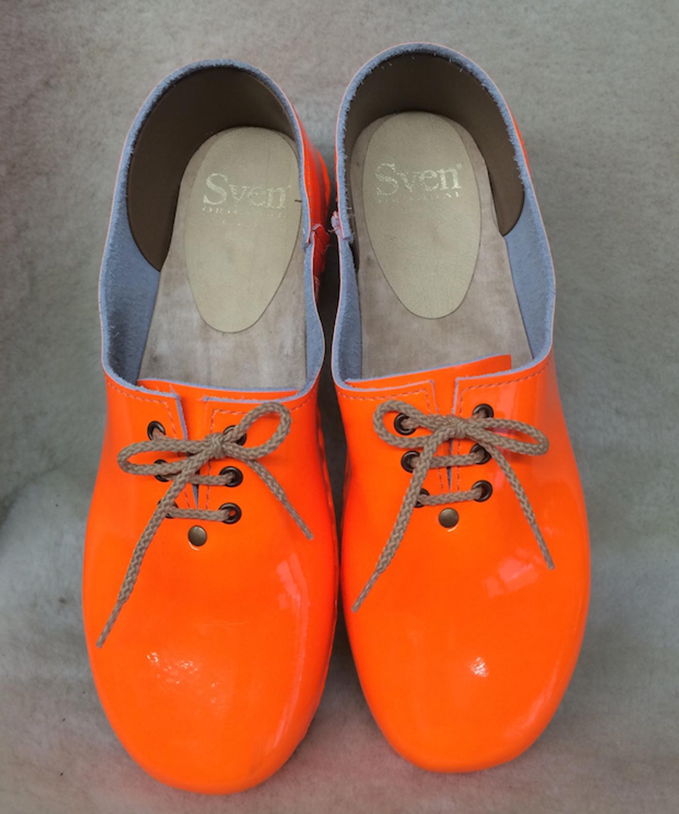 Neon Orange - Tie Clogs - Closed Back