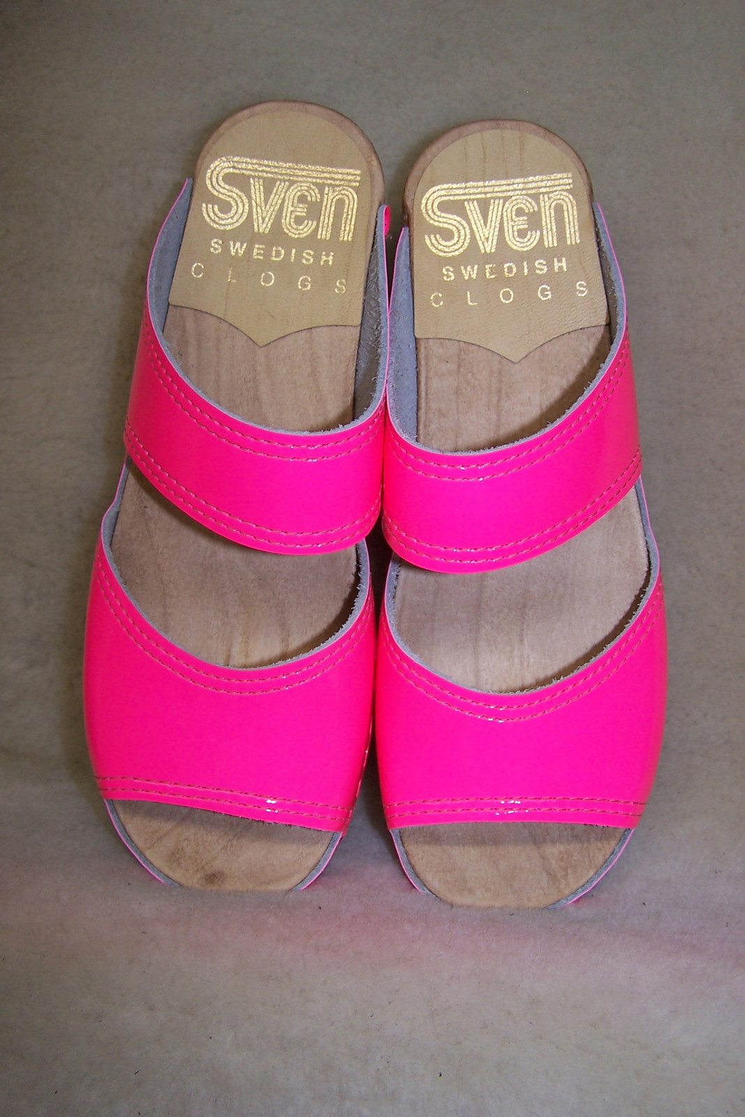 Neon Pink - 2 Strap Sandals - with Bumper