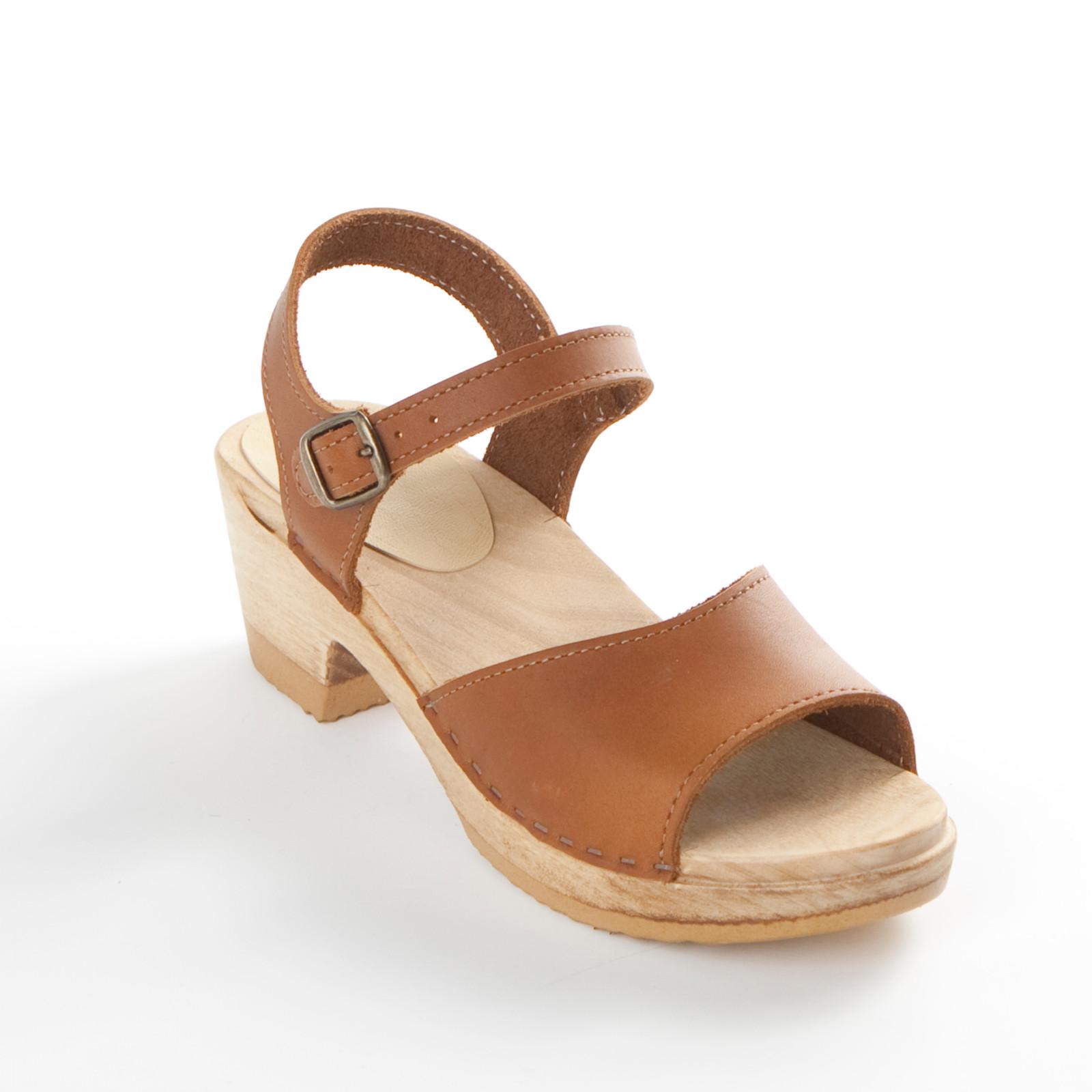 Open Toe Sandal Clogs - Ankle Straps