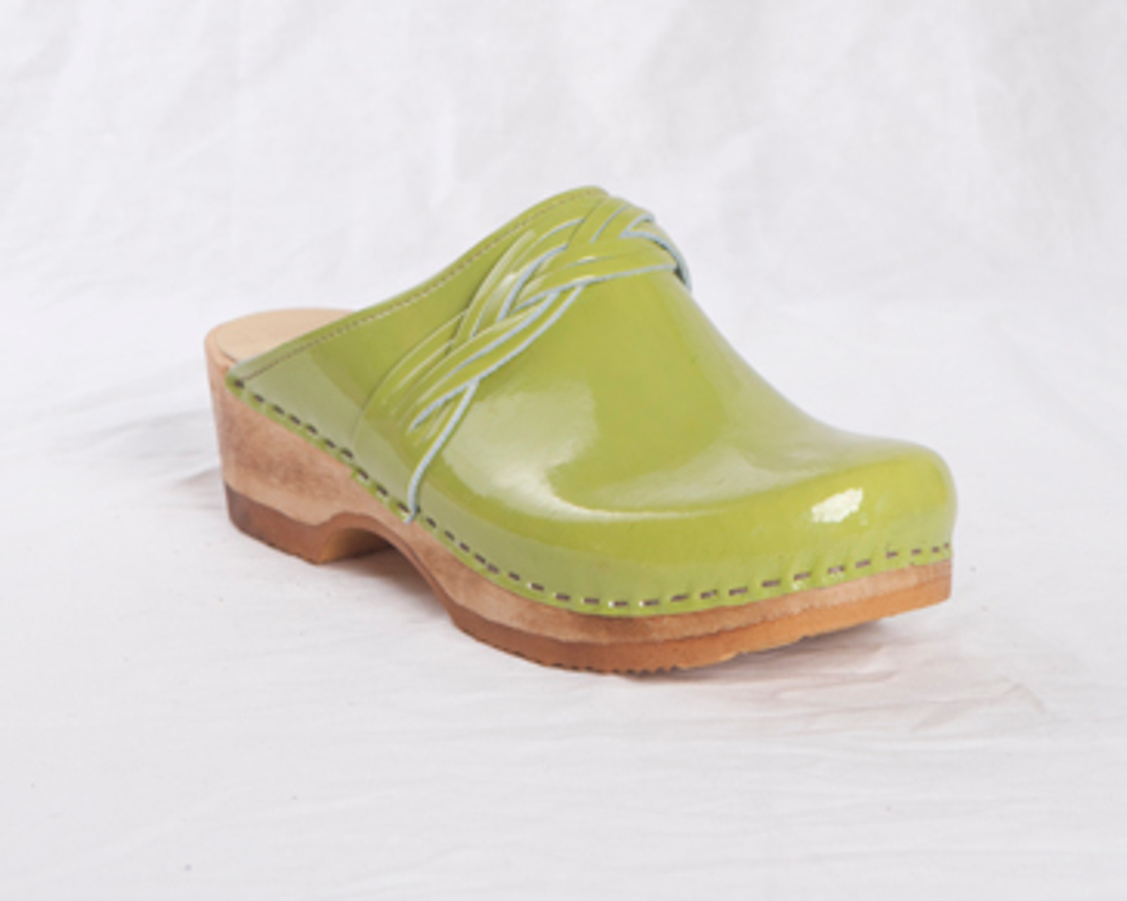Lime Patent Leather with Brown Base