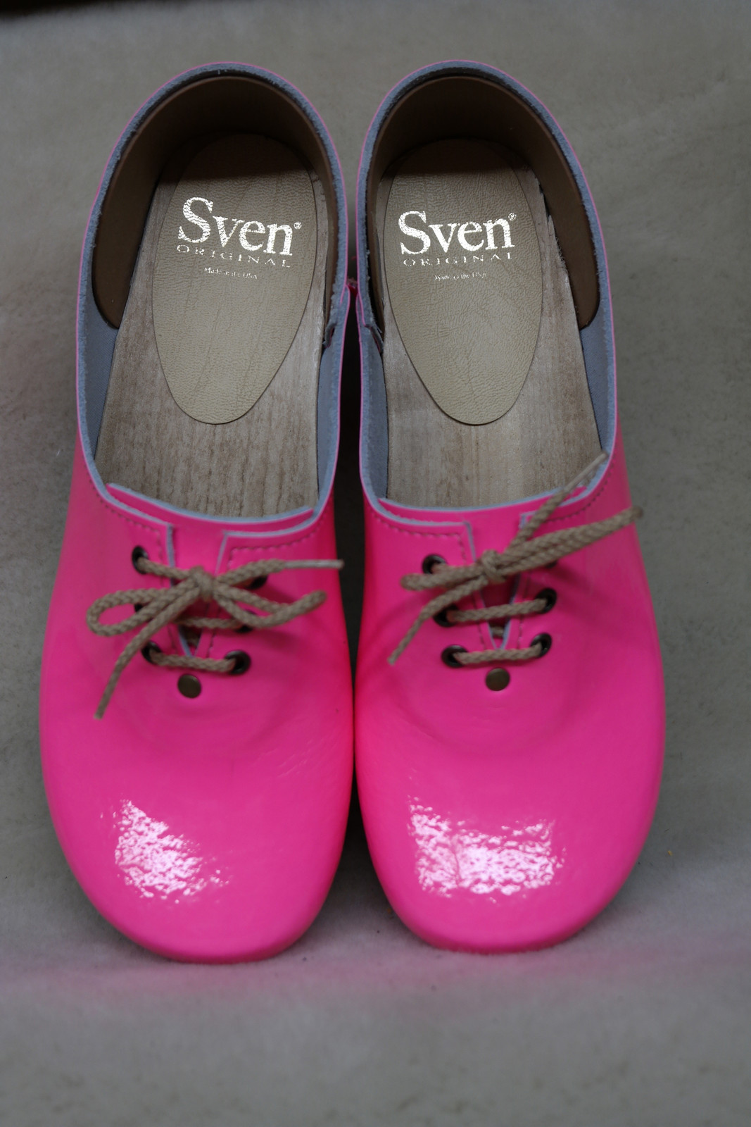 Neon Pink - Tie Closed Back Clogs