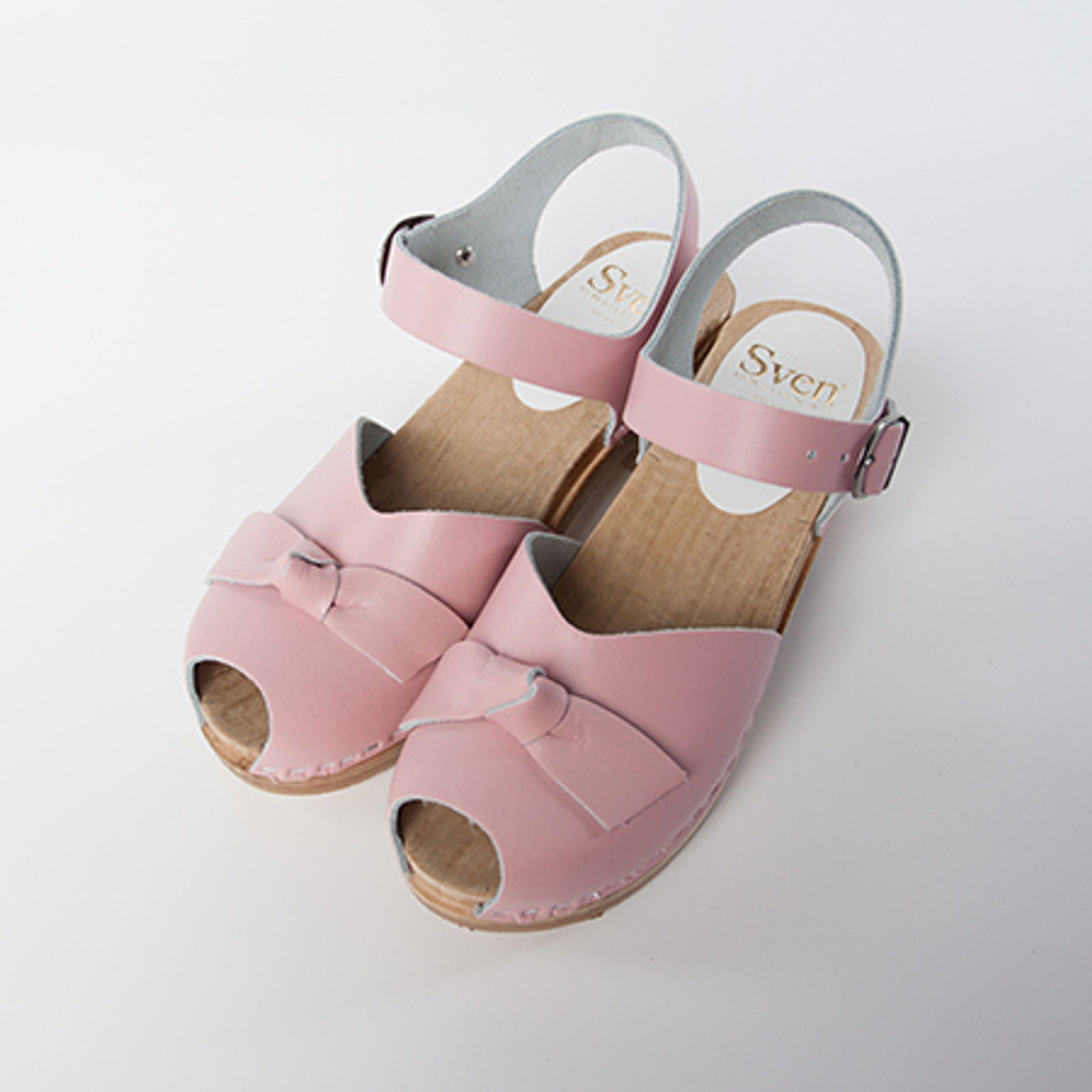 Light Pink Smooth Leather with Brown Base
