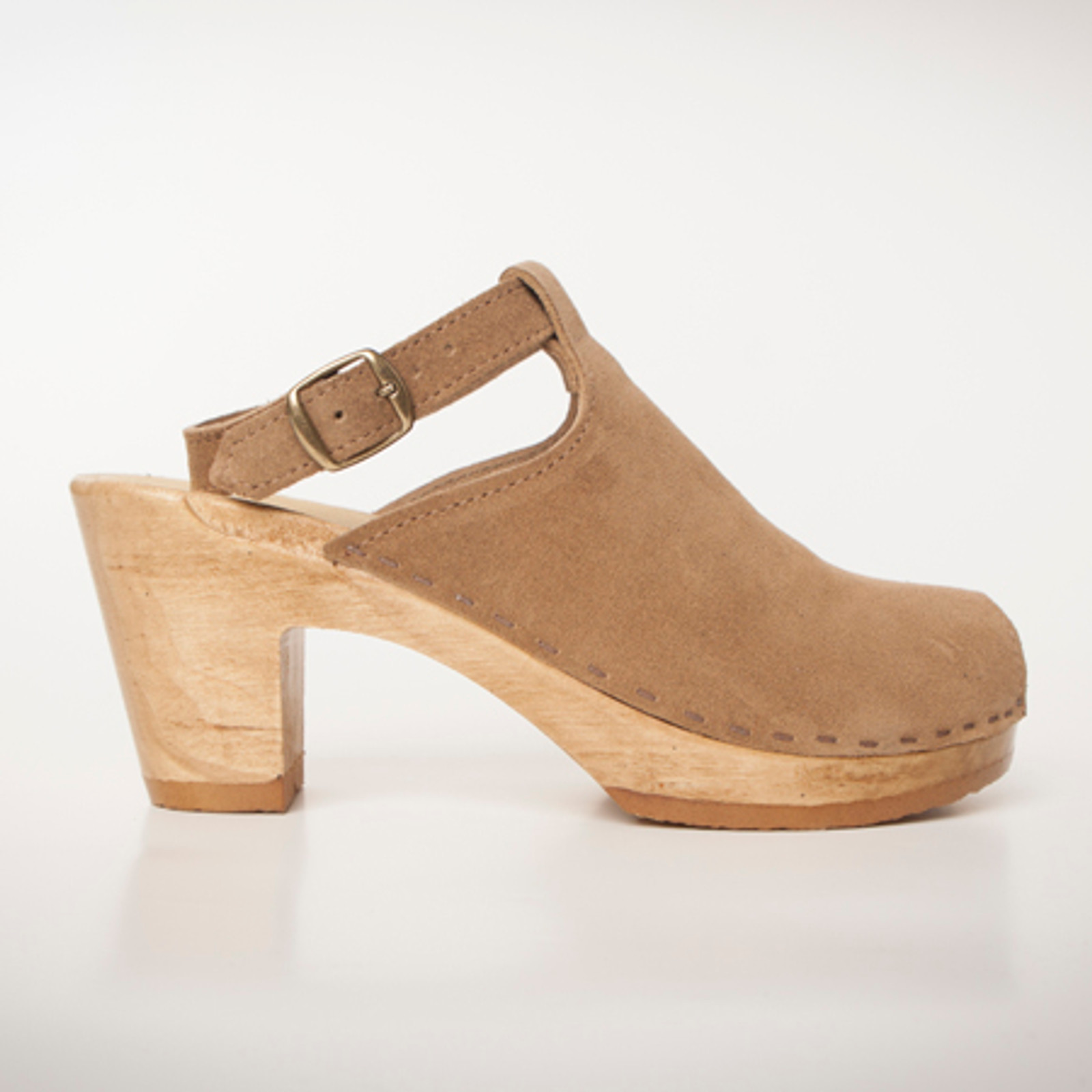 Stone Suede with Brown Base