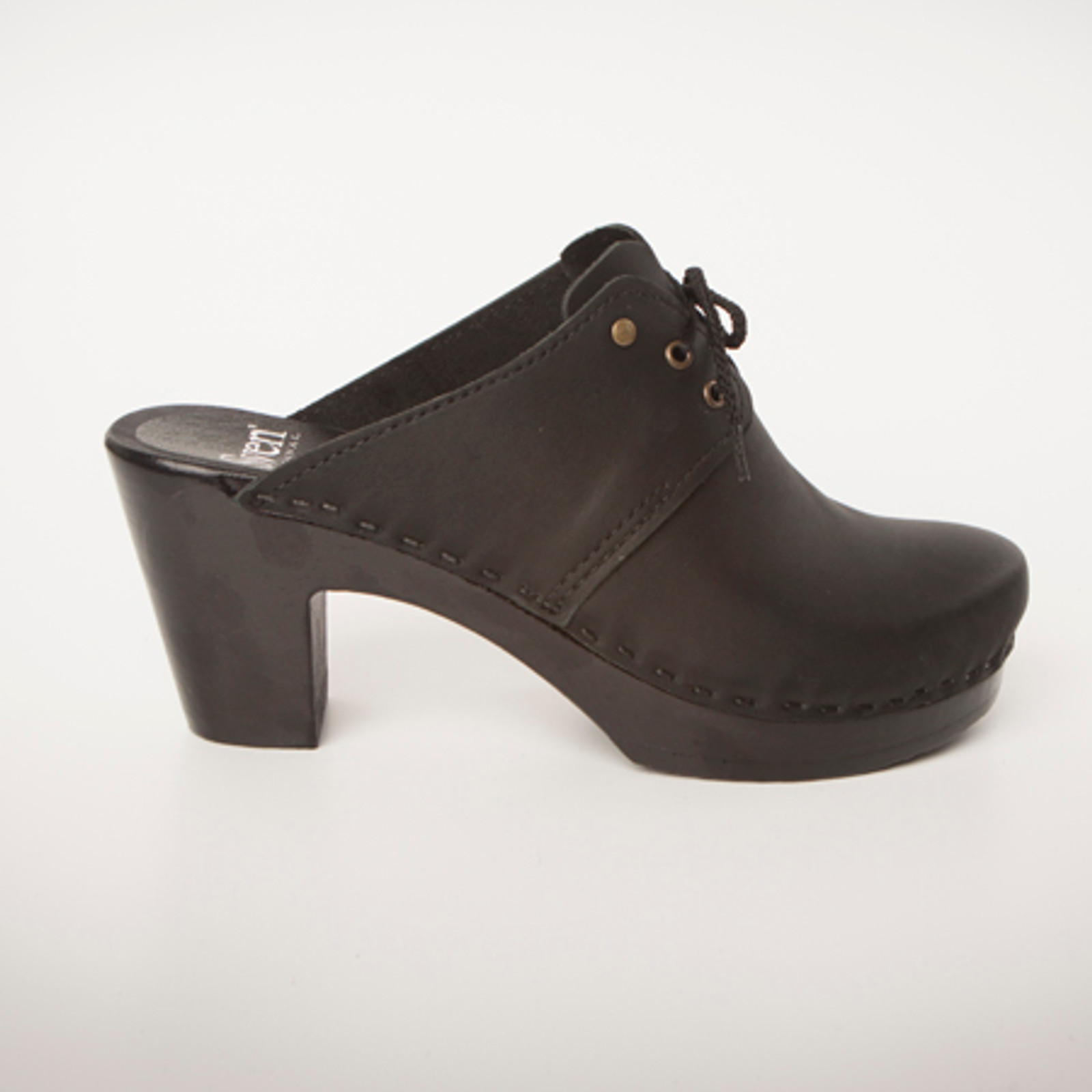 Tie Clogs with Split Tongue - High Heels