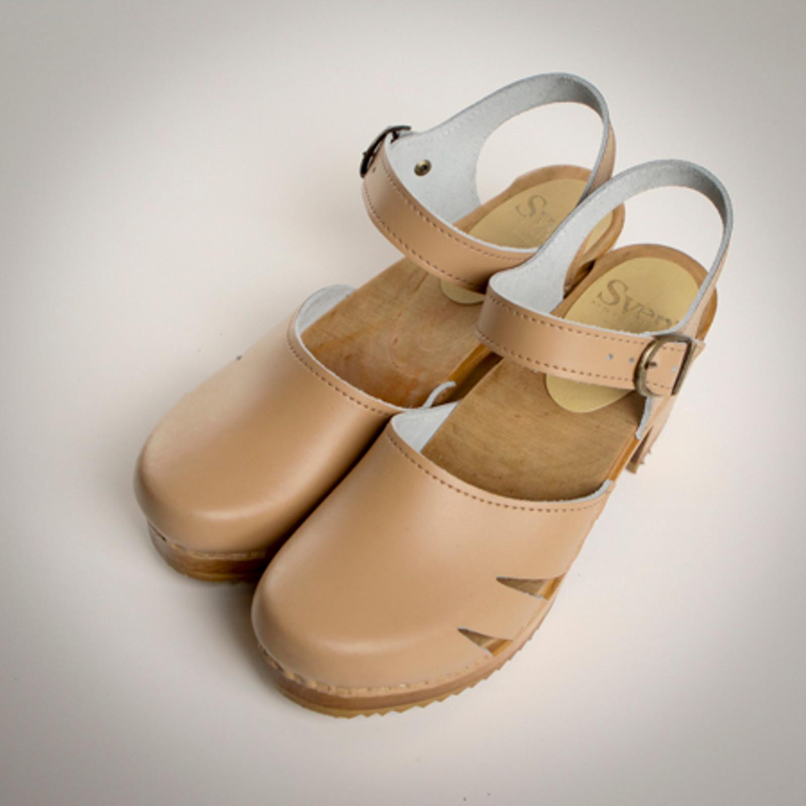 Side Slit Sandals - Swedish Mid Clogs