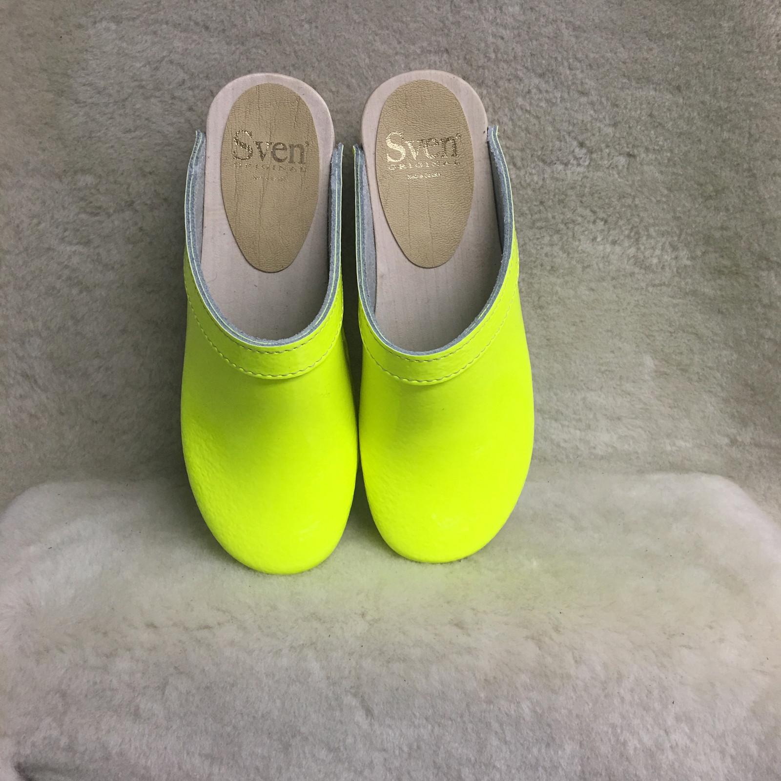 Neon Yellow - Plain Clogs