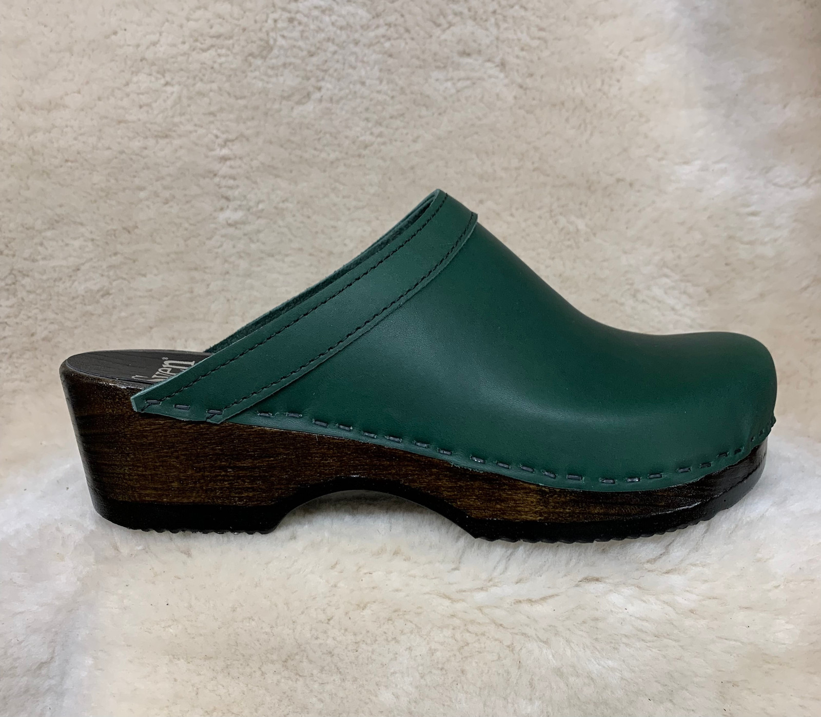 Hunter Green  - Plain Clogs