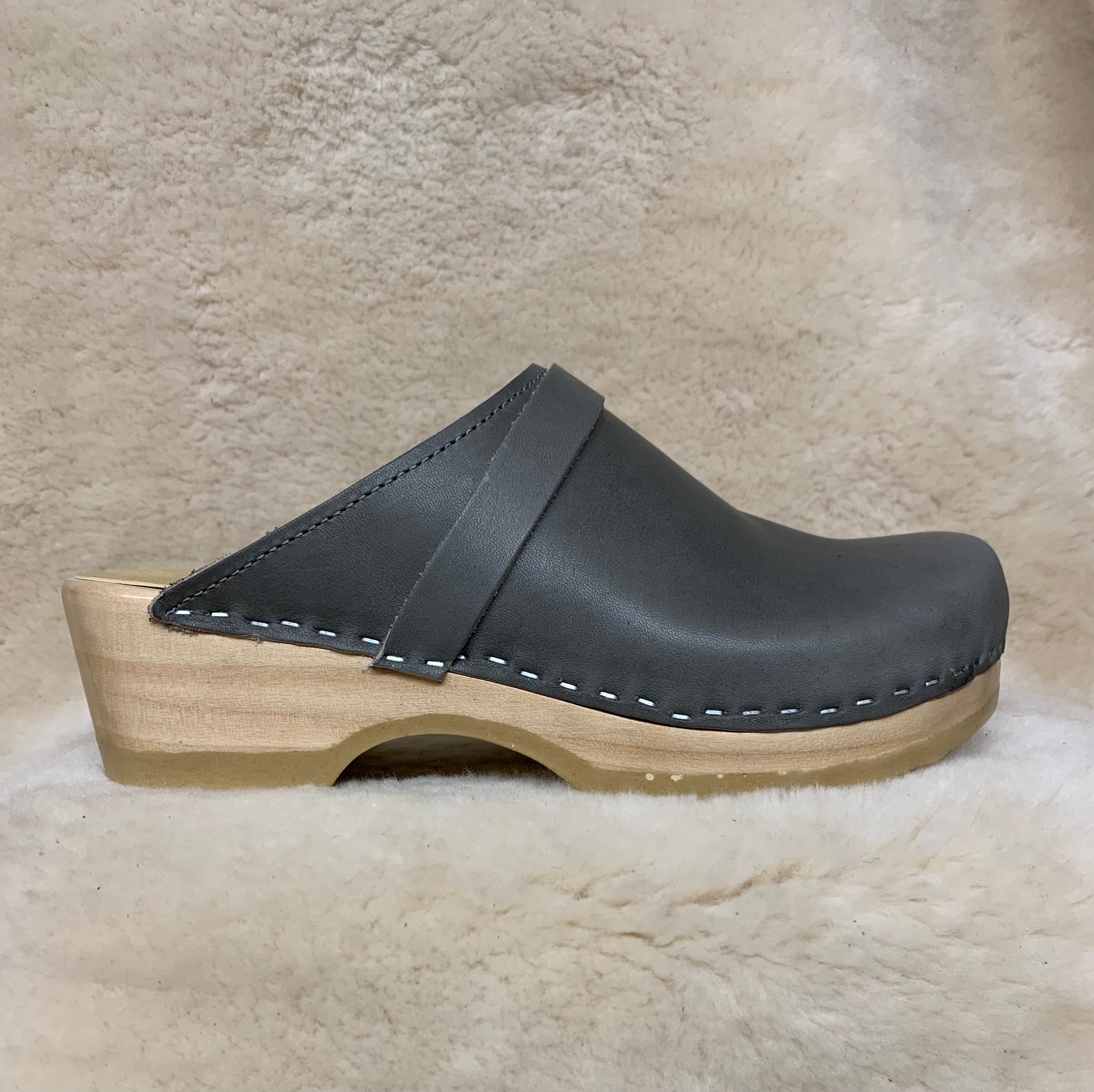 Slate Gray  - Clogs with Strap