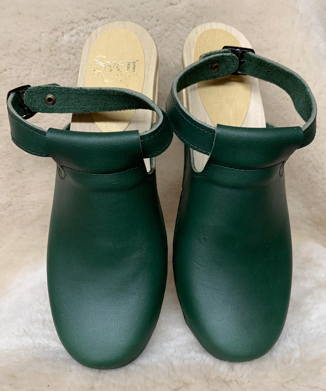Hunter Green - Halter Top  Clogs - Mid Heel