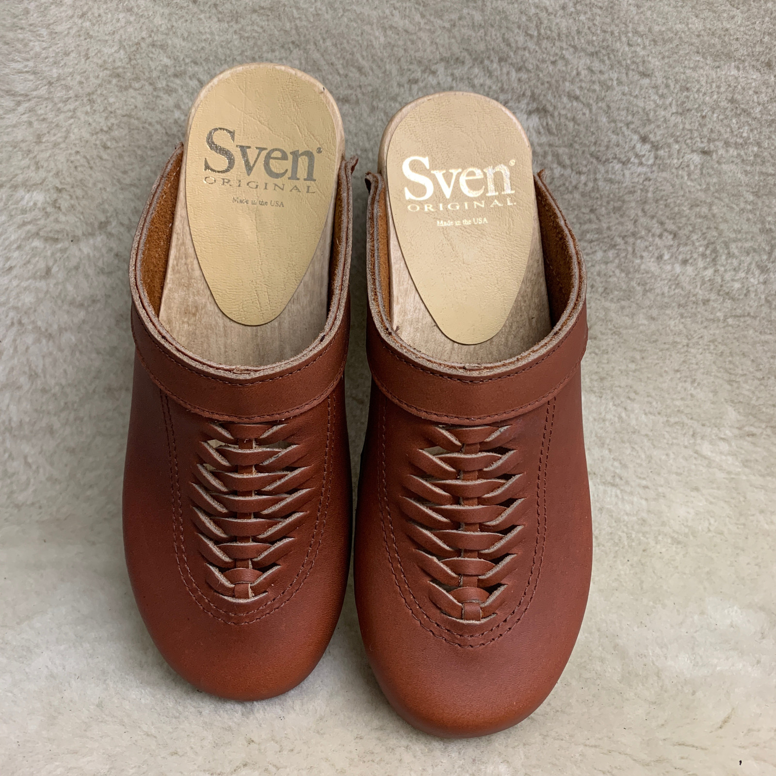 Whiskey - Front Weave Clogs