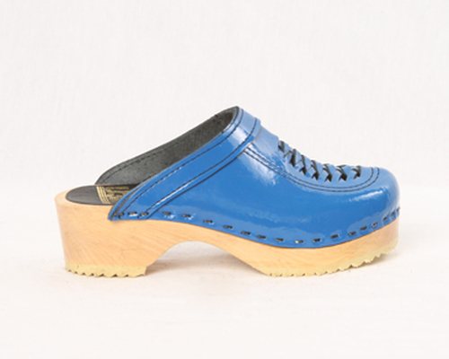 Royal Blue Patent Leather with Natural Base