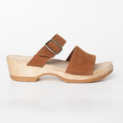 2 Strap Sandal Clogs  - Low Heels