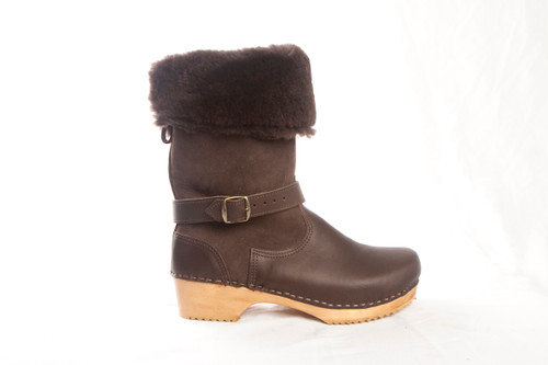 "11"" Shearling Clog Boots - Swedish"
