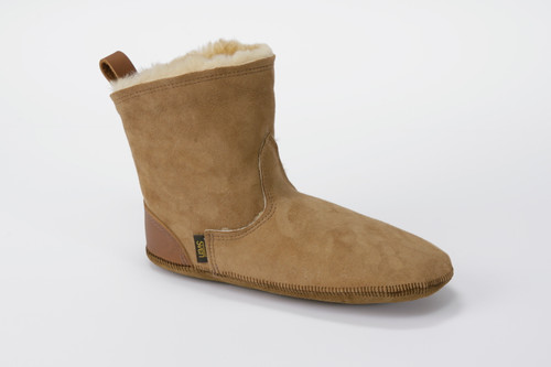 Men's Short Boot Liners Shearling Slippers