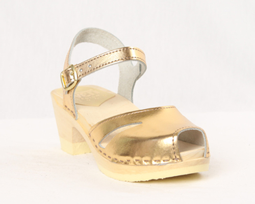Gold Metallic Leather with Natural Base.